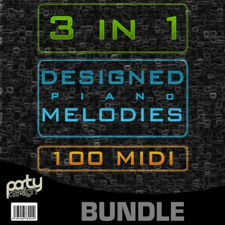 Designed Piano Melodies Bundle 3-in-1