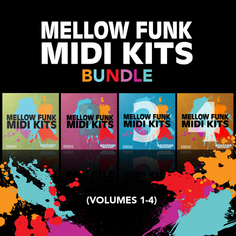 Mellow Funk MIDI Kits Bundle (Vols 1-4)