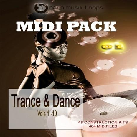 MIDI Pack 1: Trance & Dance (Vols 1-10)