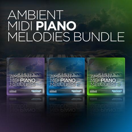 Ambient MIDI Piano Melodies Bundle (Vols 1-3)