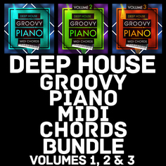 Deep House Groovy Piano MIDI Chords Bundle