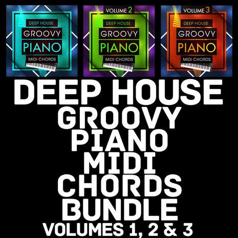 Deep House Groovy Piano MIDI Chords Bundle
