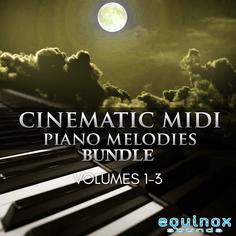 Cinematic MIDI Piano Melodies Bundle (Vols 1-3)