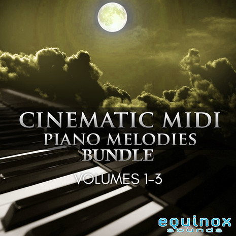 Cinematic MIDI Piano Melodies Bundle (Vols 1-3)