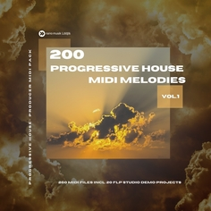 200 Progressive House MIDI Melodies Vol 1