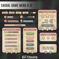 Casual Game Menu & UI