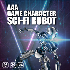AAA Game Character Sci-fi Robot
